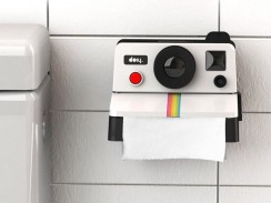 Toilet Roll Holder Polaroid